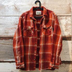 orange flannel // Vintage